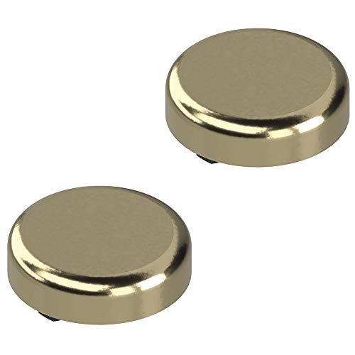 Gedotec 75T4100 Glazen deurscharnier voor glazen deuren | Blum scharnier met automatische sluiting | Clip Top meubelscharnier met montageplaat | 2 stuks scharnier 94° voor glazen vitrines modern 2 Stück - Abdeckkappen Gold-Optik staal vernikkeld