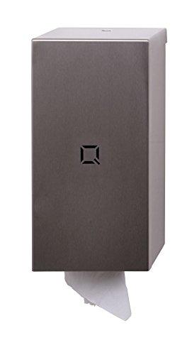 Qbic-line Innenabrollungsspender mini - Edelstahl - Papierhandtuchspender - Putzrollenspender