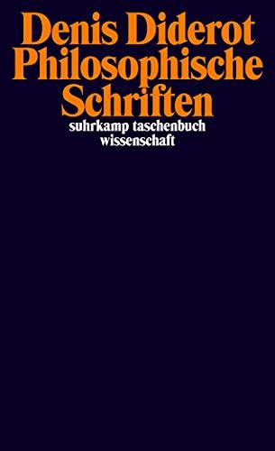 Philosophische Schriften (suhrkamp taschenbuch wissenschaft)