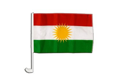 Autofahne Autoflagge Kurdistan - 30 x 40 cm