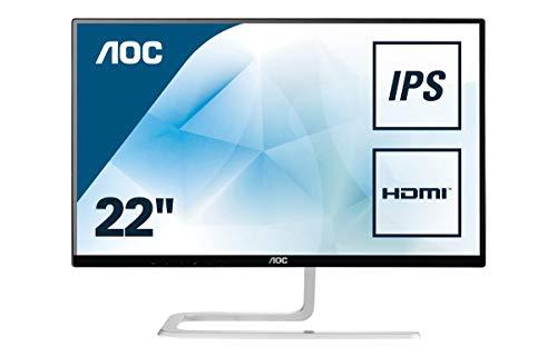 """AOC I2281FWH - Monitor de 22"""" (resolución 1920 x 1080 pixels, tecnología WLED, contraste 1000:1, 4 ms, HDMI), color negro"""