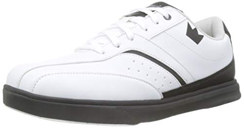Brunswick Vapor Zapato Bowling, Hombre, Blanco, 41.5