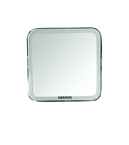 Gerson Miroir Transparent Grossissant x 7 Equipé Ventouse 11,5 x 11,5 cm
