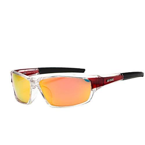 Gafas De Sol Gafas De Sol Polarizadas para Hombres Conducción Gafas De Sol Vintage Hombres Gafas Deportivas para Pesca Golf Rojo
