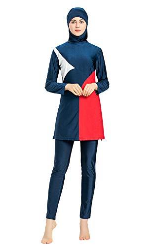 costume da bagno donna araba EOTCT Costumi da Bagno Musulmani per Le Donne Copertura Completa Costumi da Bagno Musulmani modesti Plus Size Costumi da Bagno Arabi islamici modesti Burkini Hijab (1
