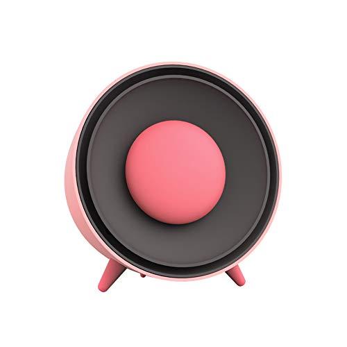 Calefactor Eléctrico, 400W Calentador Espacio Portátil Mini Calentador Espacio Ventilador Aire Caliente Ventiladores Enfriamiento, Calentador Manos Desmontable,Pink