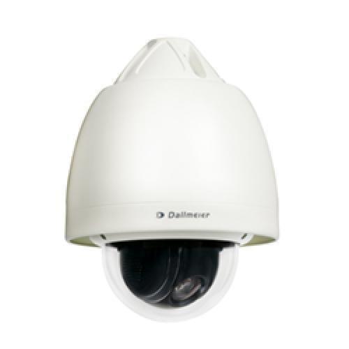 DDZ4120HD Outdoor 6,0 DALLMEIER, High-Speed PTZ-Dome-Kamera, Auflösung bis zu 1,3 MP, 20× optischer Zoom, Autofokus, Tag/Nacht (ICR), Wetterschutzvariante, die Länge des Anschlusskabel beträgt 6,0 m1). Die Kameras der Serie DDZ4120HD sind High-Speed PTZ-Dome-Netzwerkkameras mit 20× optischem Zoom. Sie sind mit einem performanten Pan/Tilt/Zoom-Mechanismus ausgestattet und liefern HD Video in Echtzeit mit bis zu 30 fps bei einer Auflösung von bis zu 1,3 MP. Die modernste Sensor- und Encoder-