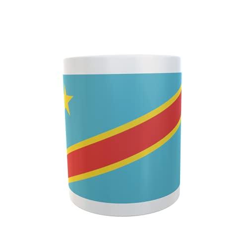 U24 Tasse Kaffeebecher Mug Cup Flagge Kongo Demokratische Republik