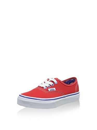 Vans Authentic Scarpe da Ginnastica Basse, Unisex Bambini, Rosso (star Eyelet/high Risk Red), 28