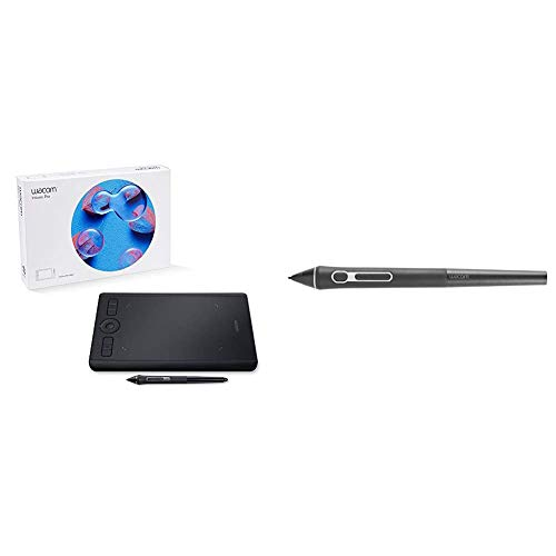 Wacom Pth460K0A Intuos Pro Digital Graphic Drawing Tablet For Mac Or Pc, Small New Model & Pro Pen 3D - Kp505