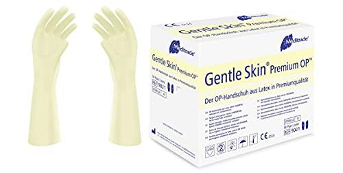 Meditrade 902175W Gentle Skin Premium OP Latex Handschuh, Steril, Puderfrei, Größe 7 (50-er pack)
