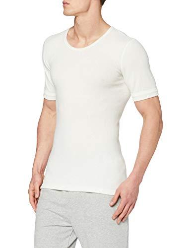 Susa Herren Thermounterwäsche - Oberteile Angora Unterhemd s8050090, Einfarbig, Gr. Medium, weiß (wollweiß s115)
