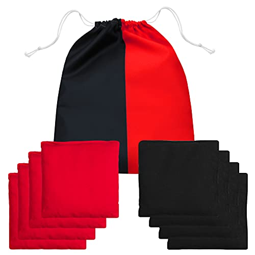 JST GAMEZ Cornhole Bags Bean Bags for Cornhole Toss - Double Sided Set of 8 Regulation - Includes Carry Bag