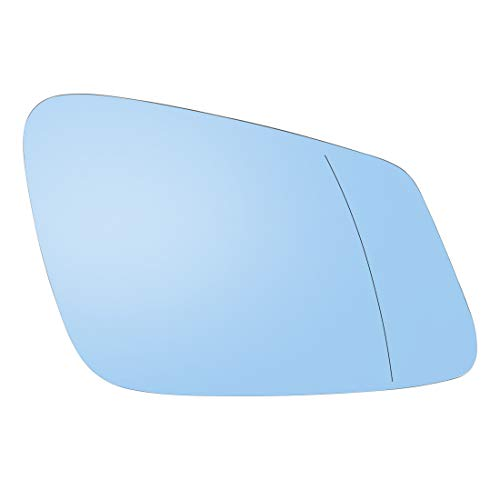 X AUTOHAUX Car Passenger Right Rearview Blue Tinted Mirror Glass Heated with Backing Plate for BMW 750i 2013-2015