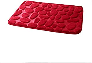 3D Memory Foam Rug Kitchen Bathroom Door Absorbent Anti-Slip Cover Mat Coral Fleece Bathroom