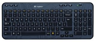 Logitech K360 Kabellose Tastatur, 2.4 GHz Verbindung via Unifying USB-Empfänger, 6 Multimedia-Tasten & 12 F-Tasten, Kompaktes & Leises Design, 3-Jahre Batterielaufzeit, Englisches QWERTY-Layout