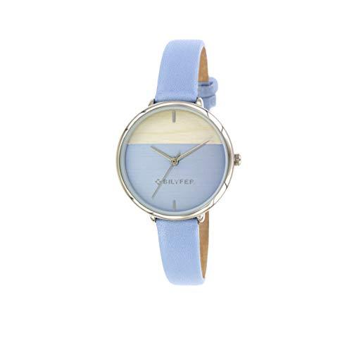 Reloj Bilyfer para Mujer con Correa en Azul y Pantalla en Azul 1F640-AZ