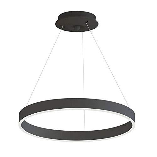 Lámpara colgante RINGEND 38W, negro, Triac regulable, Ø60cm, Blanco neutro, regulable