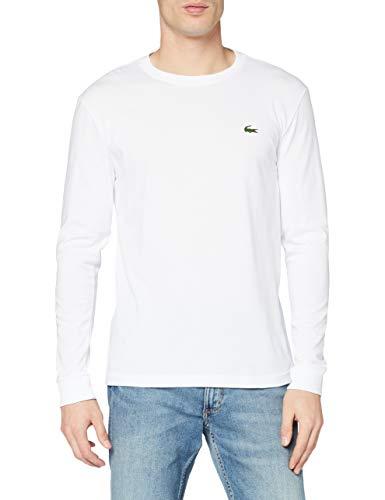 Lacoste Sport TH0123 T-Shirt, Blanc, L Uomo