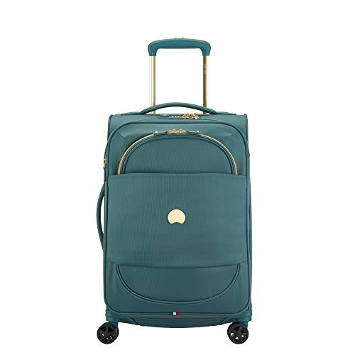 DELSEY Paris Montrouge Softside Expandable Luggage with Spinner Wheels, Sage Green, Carry-On 21 Inch