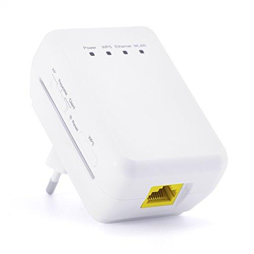 CSL - 300 Mbit WLAN , WiFi Repeater , WLAN Access Point , Client 11n 2T2R - WLAN-Verstärker - 2,4 GHz Frequenz - 3x Betriebsmodi Repeater, Access Point, Client - IP-Vergabe über DHCP - 2T2R MIMO - WPS-Taste