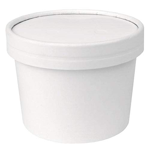 [10 Count] 12 oz Freezer Containers And Lids - With Non-vented Lids to Prevent Freezer Burn - Durable Heavy Duty Ice Cream Containers! Frozen Dessert Supplies