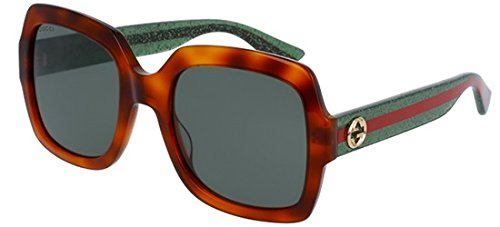 Gucci GG0036S, Gafas de Sol Para Mujer, AVANA-GREEN-GREEN