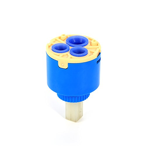 Cartucho de Disco de cerámica, 35/40 mm Cartucho de Repuesto Hecho de plástico PP y lámina de cerámica Práctico Lavabo de baño Palanca de Ducha Grifo Mezclador de Agua Válvula de Grifo (40 mm)