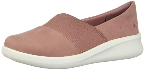 Clarks Women's Sillian 2.0 Moon Loafer Flat, Mauve Synthetic, 11 M