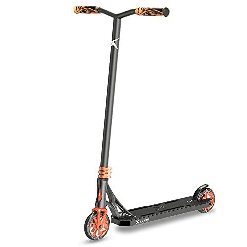XSKIP Pro Scooter Trick Scooters para adolescentes, niños y adultos, con ruedas de núcleo de aluminio de 120 mm, altura total 36 pulgadas clásico