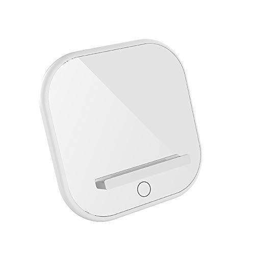 YXY-Tech Wireless Charger laadpad 7.5W draadloze desktop oplader voor iPhone 8/X/XR/XS, 10W inductief laadstation is voor Samsung S10 S9 S8, 5 W voor iPhone draadloze nachtlamplader wit