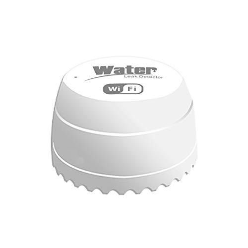 Walmeck WiFi Sensor de Fugas de Agua Fugas de Agua Detector de intrusiones Alerta Nivel de Agua Alarma de desbordamiento Tuya Smart Life App Control Remoto para la Seguridad del hogar