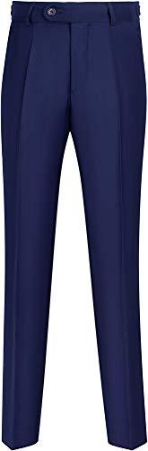 STENSER B90A Jungen Anzughose Schuluniform Elastische Taille, Blau, 134 R (Label 32/134)