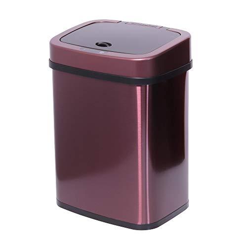 TOO STC-12 - Cubo de basura con sensor de movimiento, 12 L, de acero inoxidable, recipiente automático con sensor de infrarrojos, en varios colores, oro rosa