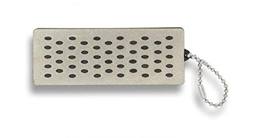 Albainox 21070 - Affilacoltelli professionale da cucina in acciaio al carbonio inox tedesco resistente alle macchie e al carbonio 21070 + portabottiglie in regalo