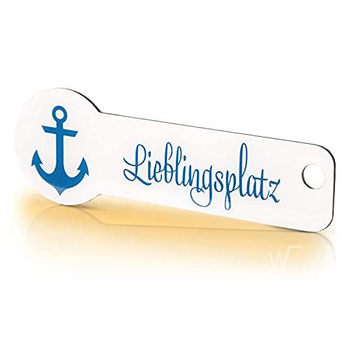 Code24 Einkaufswagenlöser Lieblingsplatz / Schlüsselanhänger mit Einkaufschip & Schlüsselfinder inkl. Registriercode für Fundservice, Einkaufswagenchip Profiltiefenmesser (10 Jahre Fundservice)