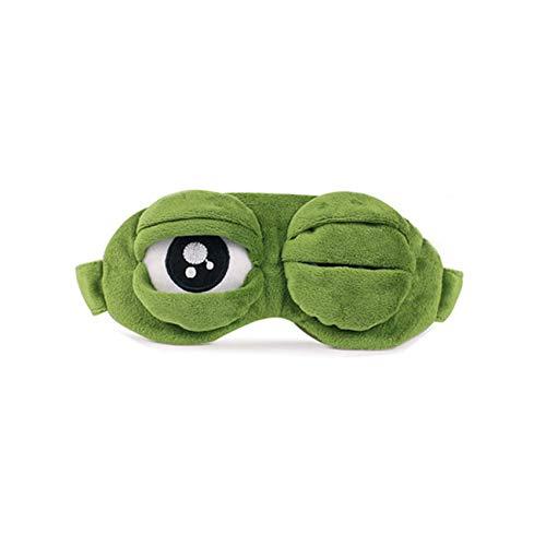 Pluche Kikker Zacht 3D Oogmasker Speelgoed, Knuffels Droevige Kikker Slaapmasker, Verjaardag Kerstcadeau Voor Kinderen Kinderen 20X10Cm