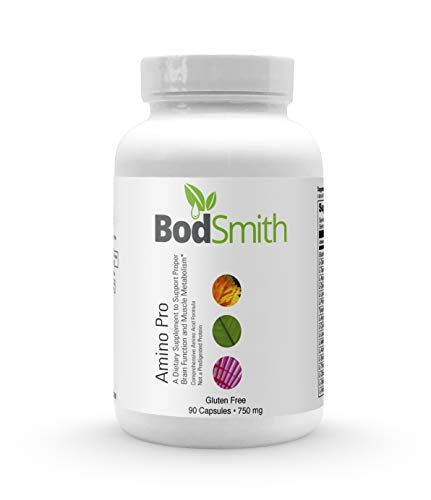 BodSmith Amino Pro 21 crystalline, Free-Form Amino acids. Professional Grade Premium Quality Research Based Nutritional Supplement with Highest Purity Ingredients, Non-GMO 90 Capsules