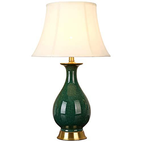 Lampe de table en céramique chambre lampe de chevet vert