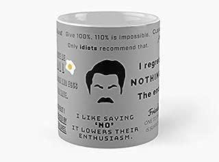 Ron Swanson - Quotes Mug Mug Coffee Mug - 11 oz Premium Quality printed coffee mug - Unique Gifting ideas for Friend/coworker/loved ones