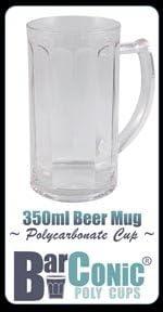 350ml BarConic New life Polycarbonate Paneled San Francisco Mall Mug Beer