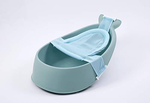Schwänlein® Waleformige Baby Badewanne mit drei Stufen, ergonomischem Design (Pink)