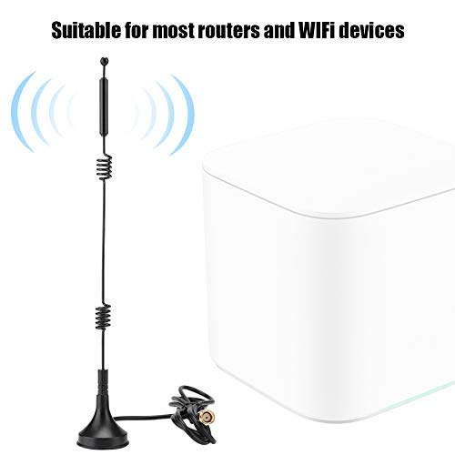 Redxiao 【𝐁𝐥𝐚𝐜𝐤 𝐅𝐫𝐢𝐝𝐚𝒚 𝐃𝐞𝐚𝐥𝐬】 WiFi-Antenne Doppelhelix-Antenne Unterstützung für Dualband-Antennen 2,4/5,8 GHz Dualband-WLAN-Office-WLAN-Geräte-Router für zu Hause(3 Meters Long)