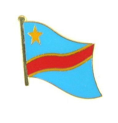 Flaggen Pin Kongo Kinshasa Pins Anstecknadel Fahne Flagge FLAGGENMAE®