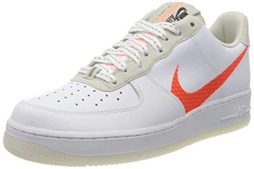 Nike Air Force 1 '07 LV8 3, Scarpe da Basket Uomo, White/Total Orange/Summit White/Black, 46 EU