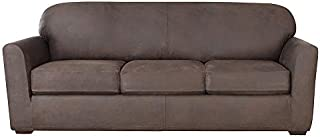 SureFit Ultimate Stretch Leather - Sofa Slipcover - Weathered Saddle