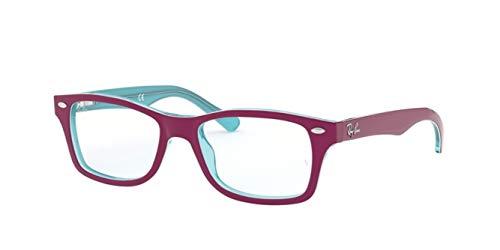 Ray-Ban JUNIOR 0RY1531 Monturas de gafas, Azure Transparente Top On Fuxia, 48 Unisex