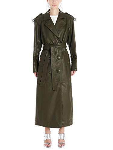Luxury Fashion | Attico Dames 201WCC02L001081 Groen Leer Trenchcoats | Lente-zomer 20