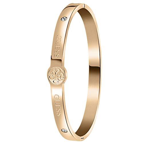 Guess - Edelstahl, rotvergoldet, 4G-Logo - für Damen - Rosa