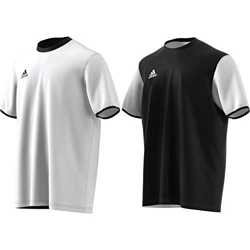 adidas Tan Reversable Jersey Camiseta, Hombre, White/Black, M